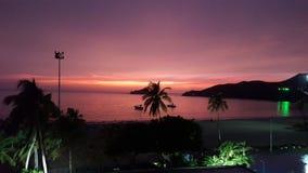 De zonsondergang van kerstmanmarta Colombia Stock Afbeelding