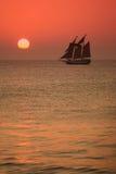 De Zonsondergang van Key West Stock Foto's