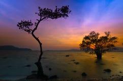 De zonsondergang van Khaokaad Stock Afbeeldingen