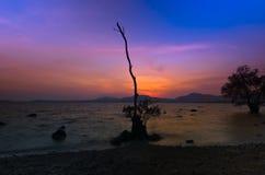 De zonsondergang van Khaokaad Stock Afbeelding