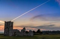 De Zonsondergang van de Knowltonkerk Stock Afbeeldingen