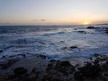 De zonsondergang van Korfu Royalty-vrije Stock Fotografie