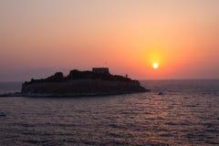 De Zonsondergang van Kusadasi Stock Afbeelding