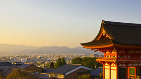 De zonsondergang van Kyoto Royalty-vrije Stock Foto's