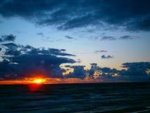 De zonsondergang van Litouwen Palanga Royalty-vrije Stock Afbeeldingen