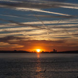 De zonsondergang van Londen Royalty-vrije Stock Afbeeldingen