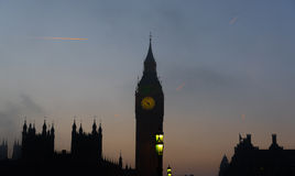 De zonsondergang van Londen Royalty-vrije Stock Foto