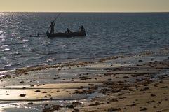 De zonsondergang van Madagascar stock afbeeldingen
