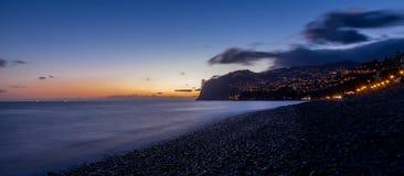 De zonsondergang van MadeiraStock Afbeeldingen