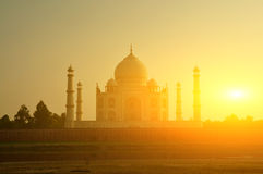 De zonsondergang van Mahal van Taj Royalty-vrije Stock Foto