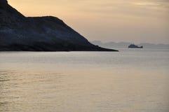 De zonsondergang van Mallorca Stock Foto's