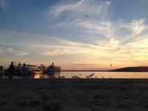 De Zonsondergang van meergenève Stock Afbeelding