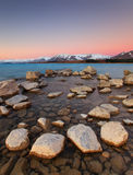 De Zonsondergang van meertekapo Stock Afbeeldingen