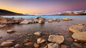 De Zonsondergang van meertekapo Stock Fotografie