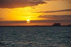 De zonsondergang van Miami Royalty-vrije Stock Fotografie