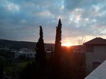 De zonsondergang van mijn huis royalty-vrije stock foto's