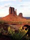 De Zonsondergang van de monumentenvallei - de V.S. Amerika royalty-vrije stock afbeeldingen