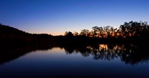 De Zonsondergang van Murray stock foto