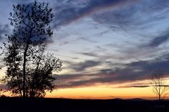 De Zonsondergang van New England Stock Foto's