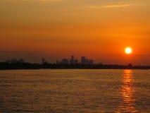 De Zonsondergang van New Orleans Stock Foto