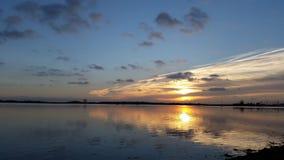 De zonsondergang van Nice stock foto