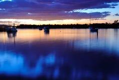 De zonsondergang van Noosa Stock Fotografie