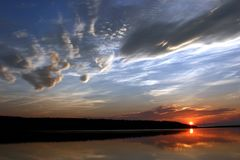 De Zonsondergang van Nova Scotia Royalty-vrije Stock Foto