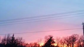 De Zonsondergang van Oklahoma Stock Afbeelding