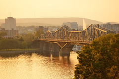 De zonsondergang van Ottawa royalty-vrije stock fotografie
