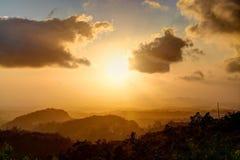 De Zonsondergang van Panama Royalty-vrije Stock Foto's