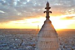 De zonsondergang van Parijs Royalty-vrije Stock Afbeeldingen