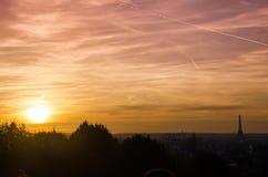 De Zonsondergang van Parijs Royalty-vrije Stock Foto