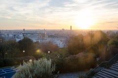 De Zonsondergang van Parijs Royalty-vrije Stock Fotografie