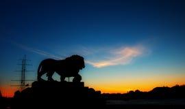 De zonsondergang van Petersburg Stock Fotografie