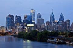 De zonsondergang van Philadelphia Stock Foto's