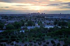 De Zonsondergang van Phoenix stock afbeelding