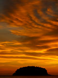 De zonsondergang van Phuket Stock Foto's