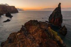 De zonsondergang van Pontode vista Stock Foto