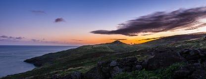 De zonsondergang van Pontode vista Royalty-vrije Stock Foto