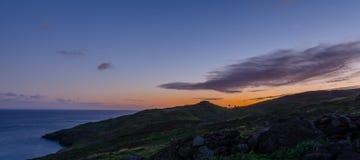 De zonsondergang van Pontode vista Stock Foto's