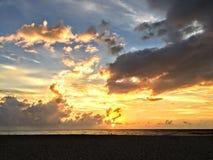 De Zonsondergang van Puertovallarta stock foto