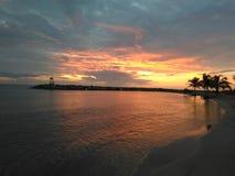 De zonsondergang van Puertrico royalty-vrije stock foto's