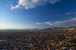 De Zonsondergang van Salt Lake. Stock Foto's