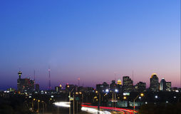 De zonsondergang van San Antonio Stock Foto