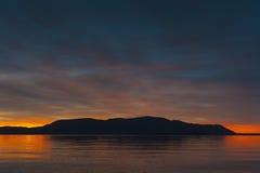 De zonsondergang van San Juan Islands stock foto's