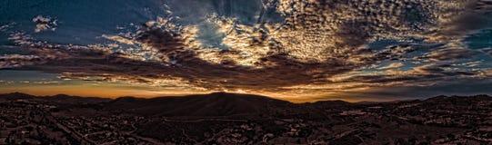 De zonsondergang van San Marcos Stock Afbeelding