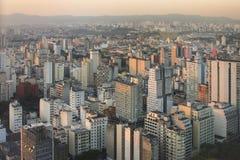 De zonsondergang van Sao Paulo Royalty-vrije Stock Foto