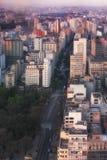 De zonsondergang van Sao Paulo Stock Afbeelding