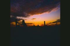 De zonsondergang van Saskatchewan Royalty-vrije Stock Foto