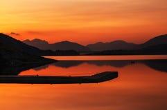 De zonsondergang van Schotland van Glencoe Stock Foto